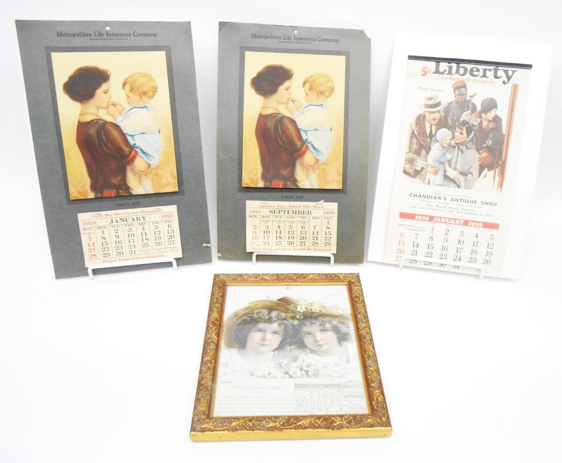 (4) COUNTRY STORE ADVERTISING CALENDARS