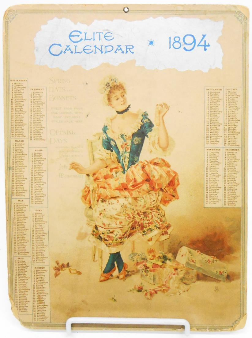 ADVERTISING CALENDARS - WANAMAKERS (3)