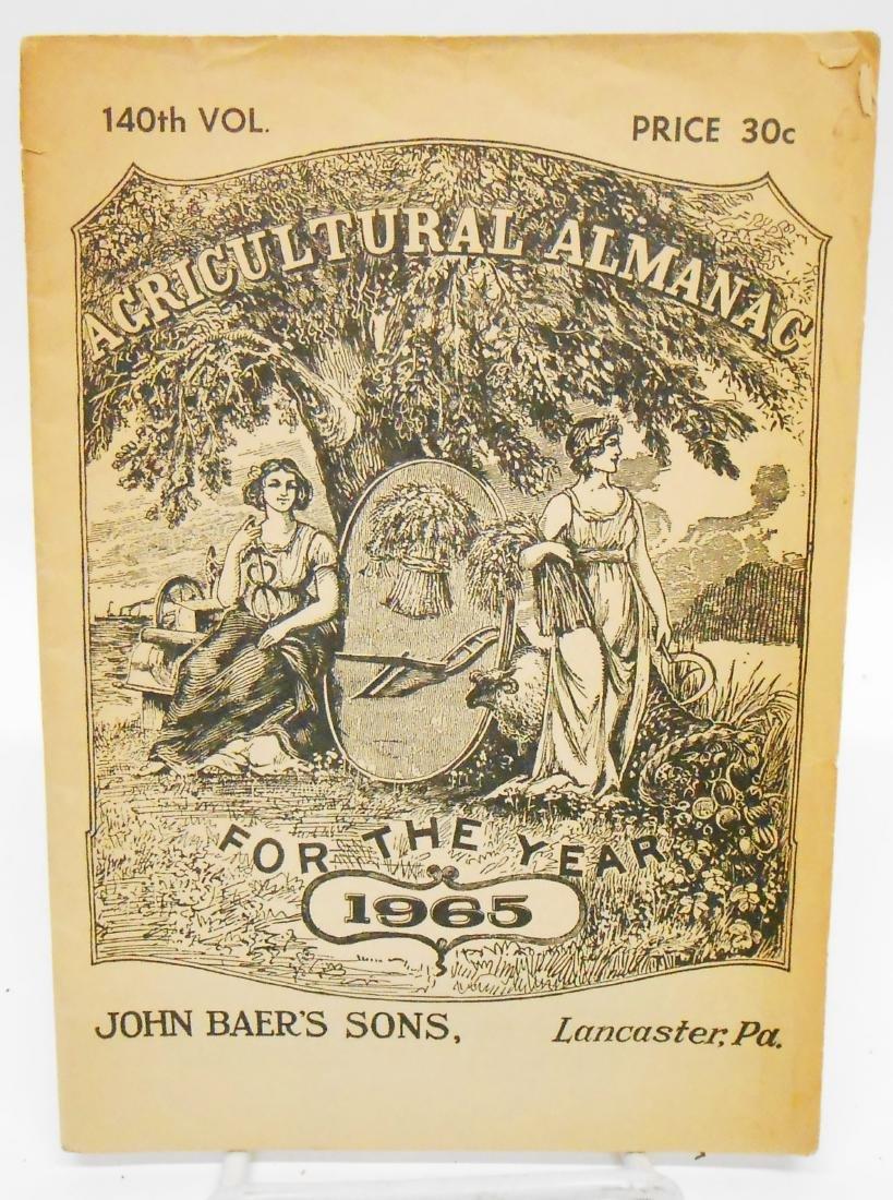 20TH CENTURY ALMANACS (11), PAPER LITHO