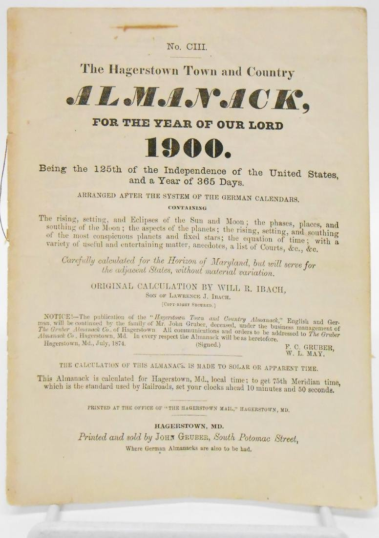 20TH CENTURY ALMANACS (11), PAPER LITHO - 2