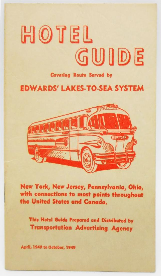 BUS TOURS, TRAVEL & TRANSPORTATION BROCHURES (5)
