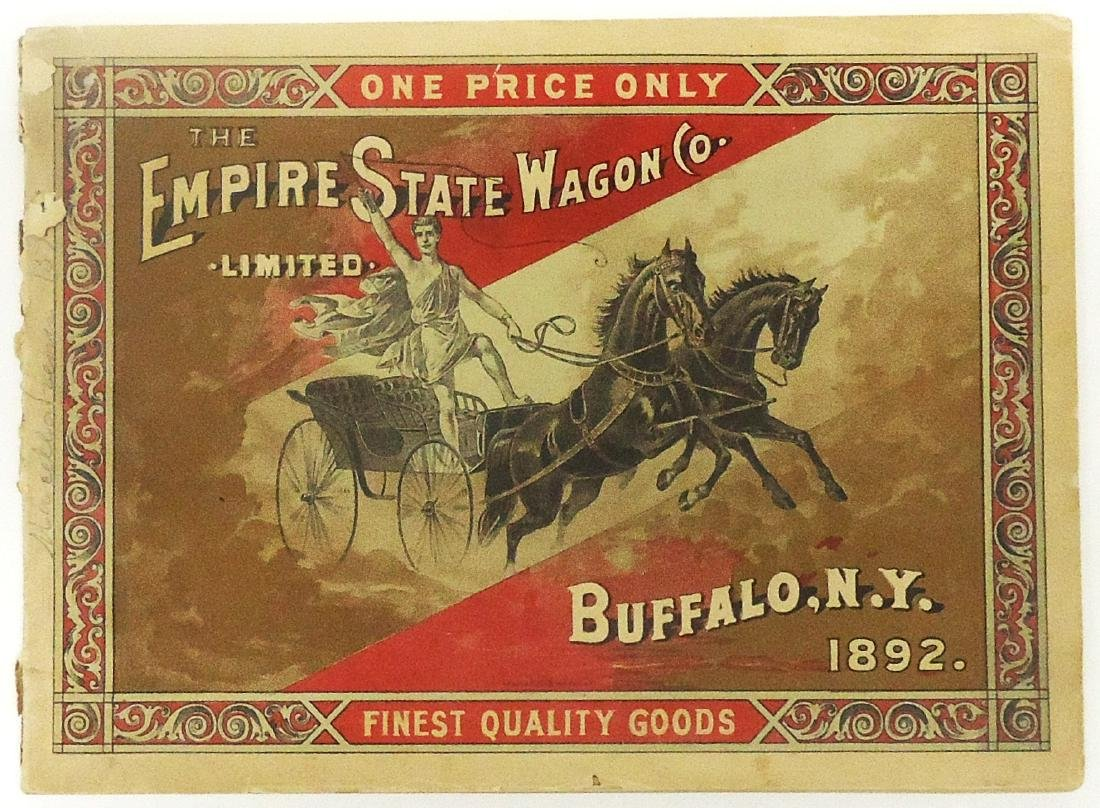EMPIRE STATE WAGON CO. CATALOG - 1892