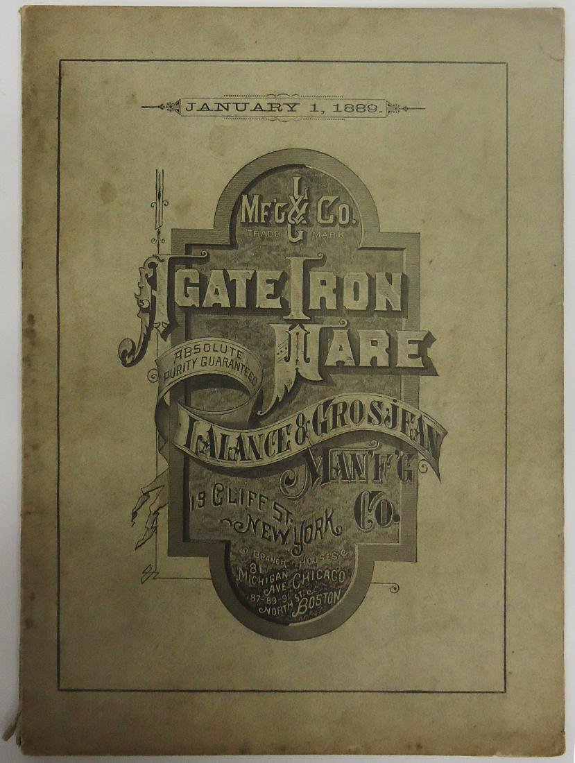 ADVERTISING AGATE IRON WARE CATALOG