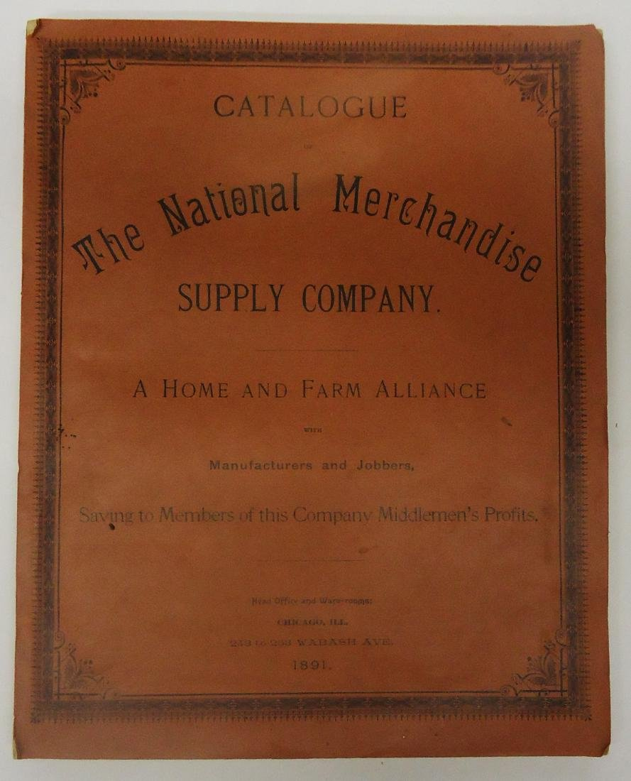 ADVERTISING NATIONAL MERCHANDISE SUPPLY CO CATALOG