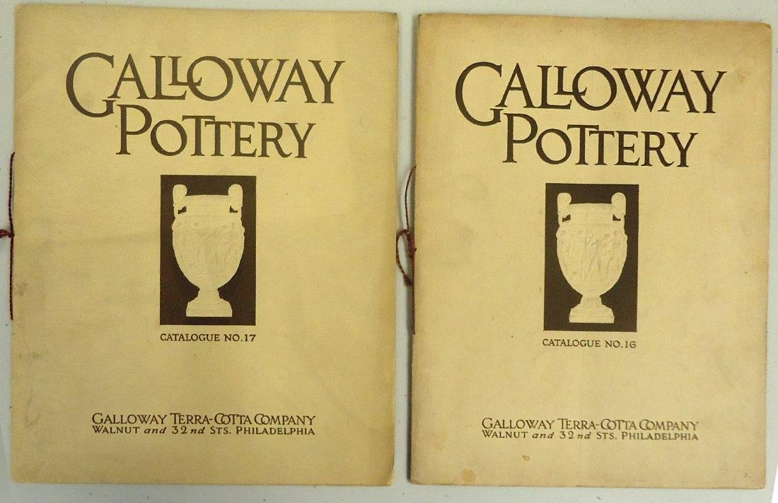 ADVERTISING GALLOWAY TERRA COTTA POTTERY CO. CATALOGS