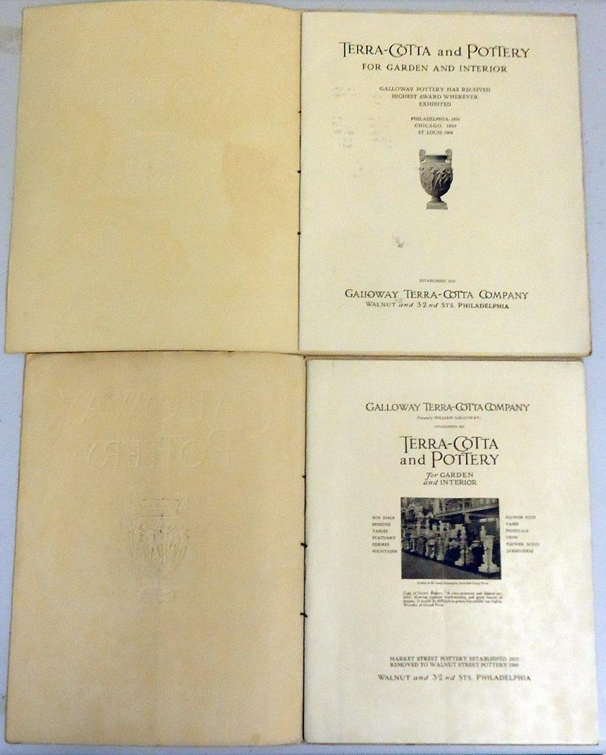 ADVERTISING GALLOWAY TERRA COTTA POTTERY CO. CATALOGS - 2