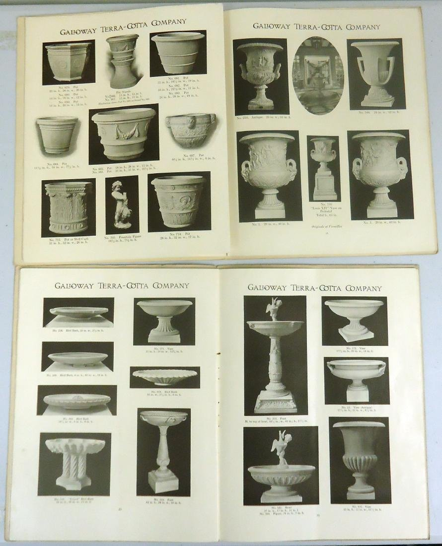 ADVERTISING GALLOWAY TERRA COTTA POTTERY CO. CATALOGS - 3