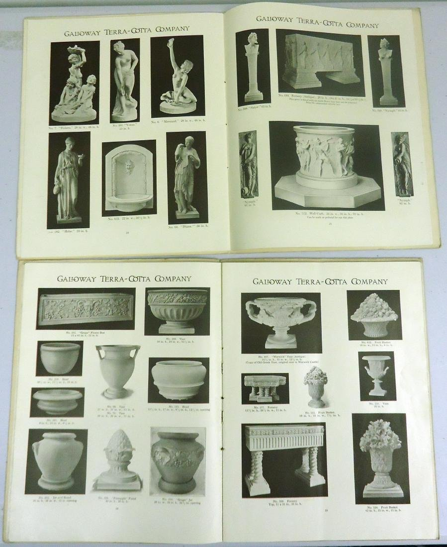 ADVERTISING GALLOWAY TERRA COTTA POTTERY CO. CATALOGS - 4