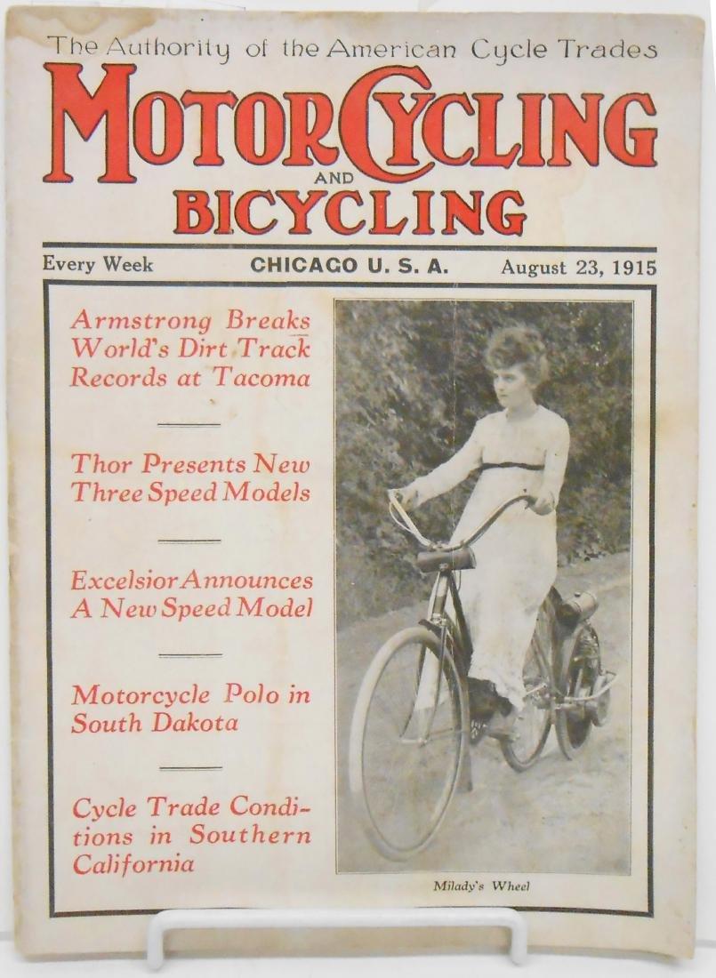 MOTORCYCLING & BICYCLING MAGAZINE 1915