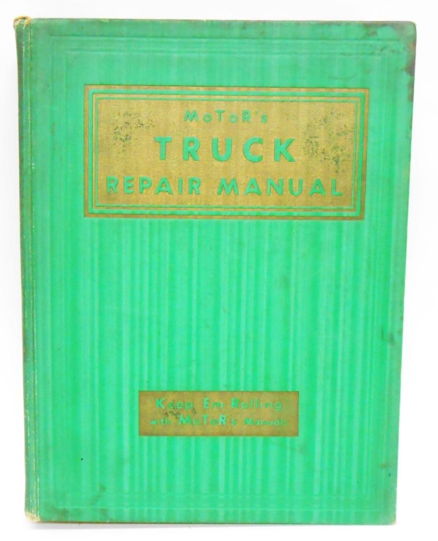 (3) MOTOR'S TRUCK REPAIR MANUAL BOOKS