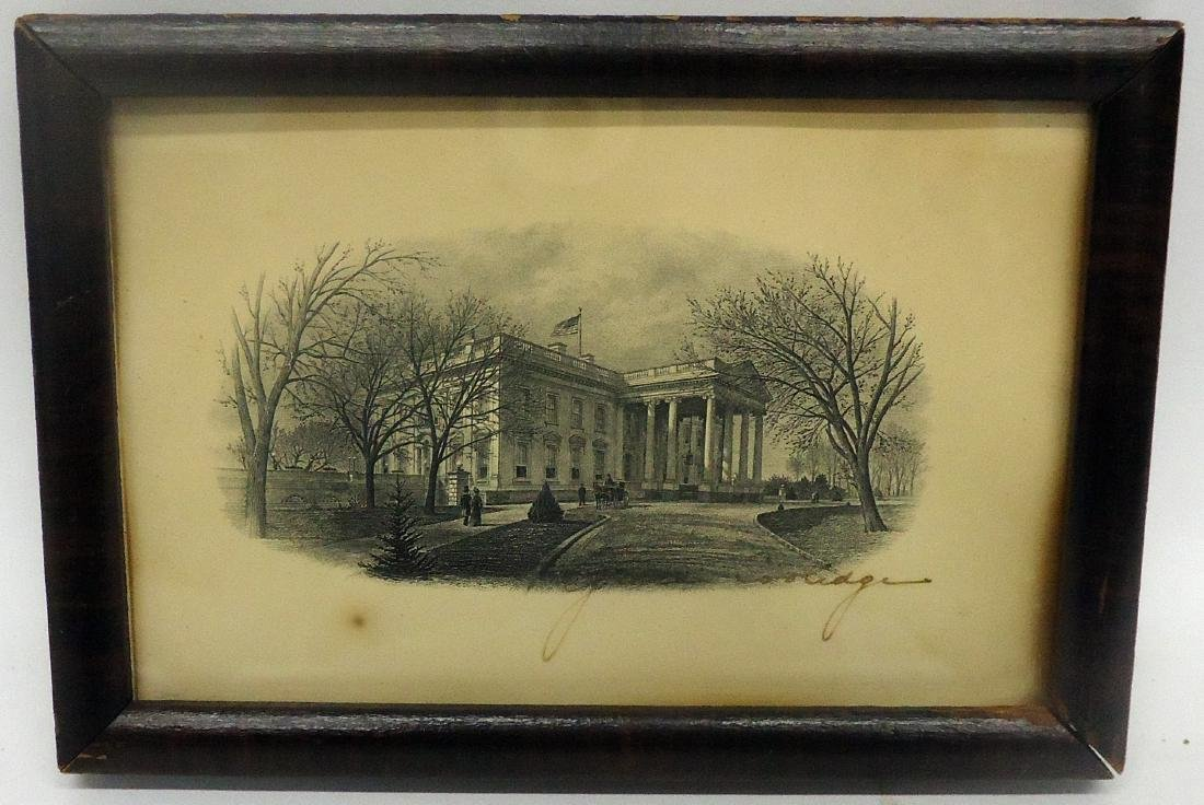 WHITE HOUSE PRINT SIGNED BY GRACE COOLIDGE