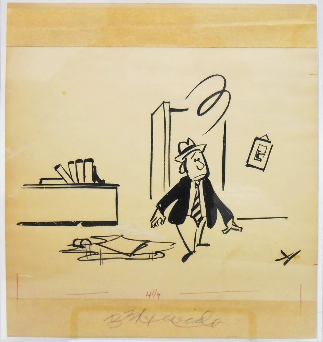 (9) CARTOON ORIGINAL ILLUSTRATION ART BY JIM HARTZELL