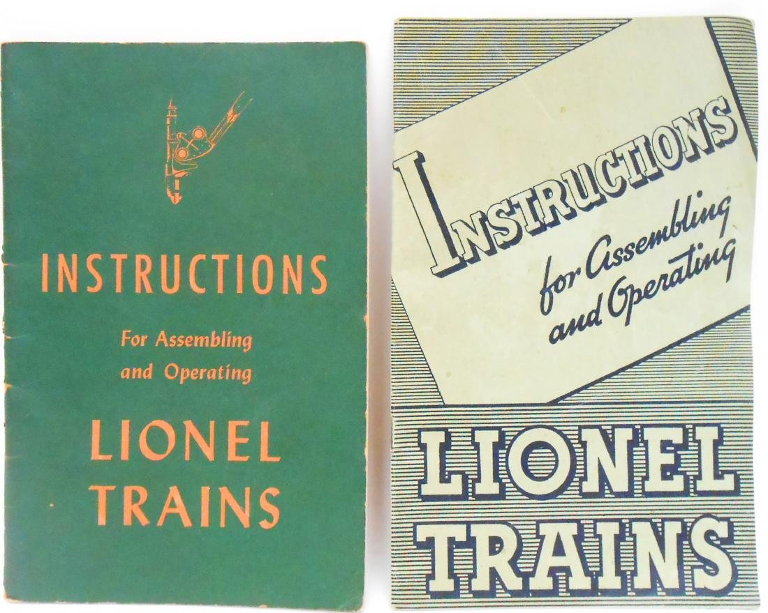 (5) TRAIN CATALOGS & PAPER GOODS-AMERICAN FLYER, LIONEL