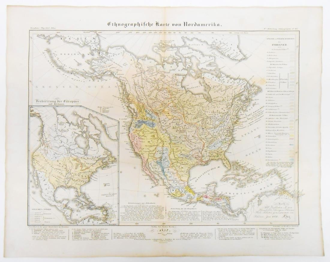 (4) MID 19TH CENTURY THNOGRAPHIC MAPS