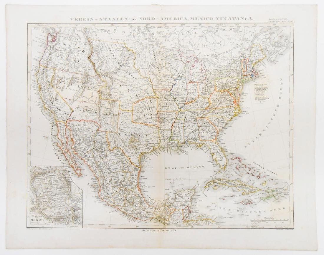 (3) MID 19TH CENTURY MAPS OF NORTH & SOUTH AMERICA