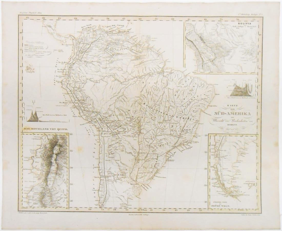 (2) MID 19TH CENTURY MAPS OF THE AMERICAS