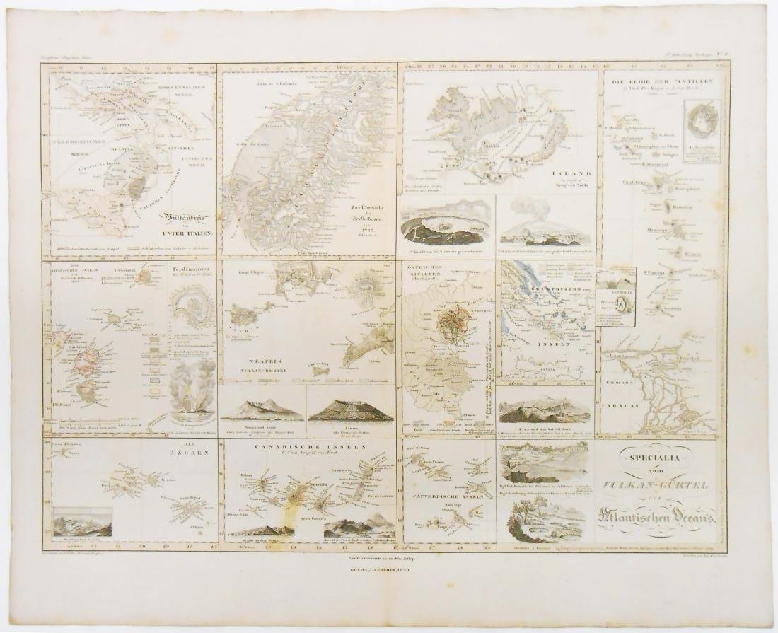 (2) GEOGRAPHIC & GEOLOGICAL MID 19TH CENTURY MAPS