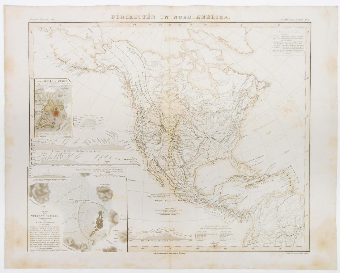 (2) GEOGRAPHIC & GEOLOGICAL MID 19TH CENTURY MAPS - 2