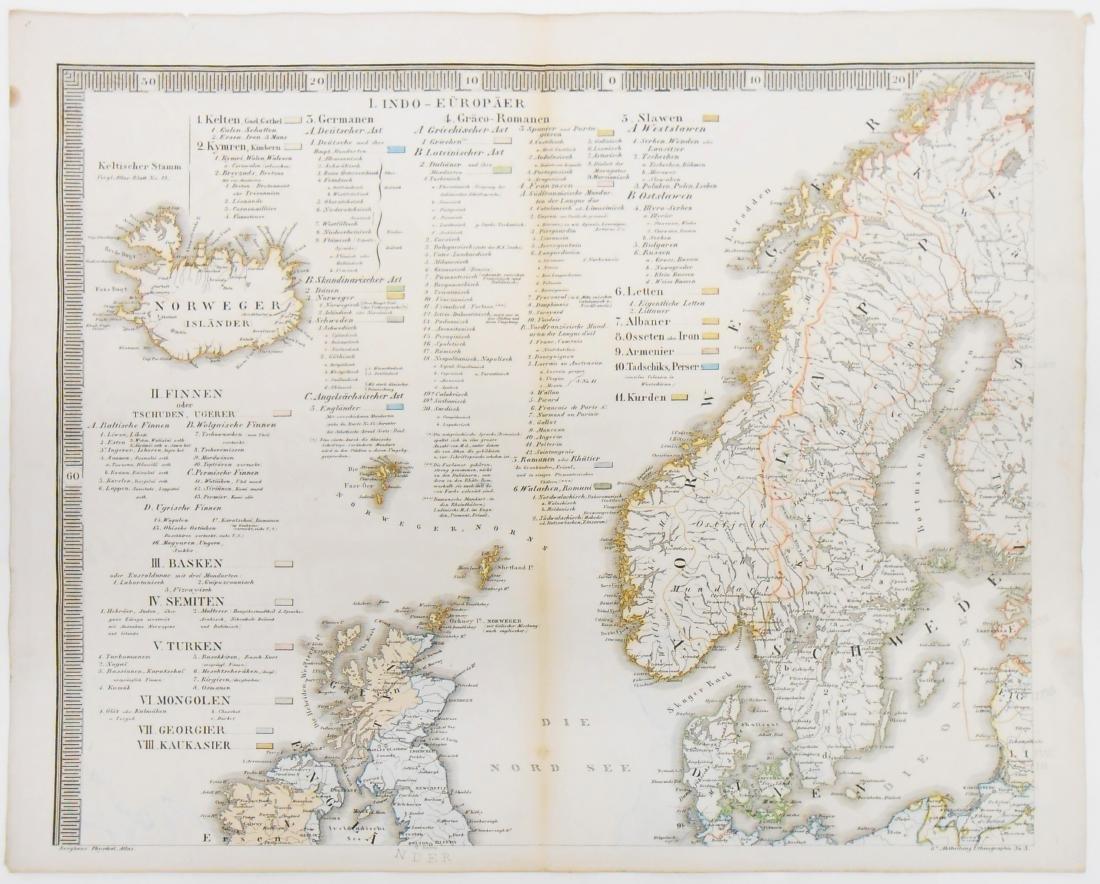 (2) MID NINETEENTH CENTURY ETHNOGRAPHIC MAPS - 2