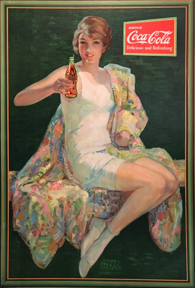 COCA-COLA CARDBOARD SIGN, 1928 MEYERS