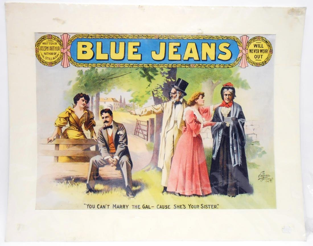 "COLOR LITHO PLAY POSTER ""BLUE JEANS"""