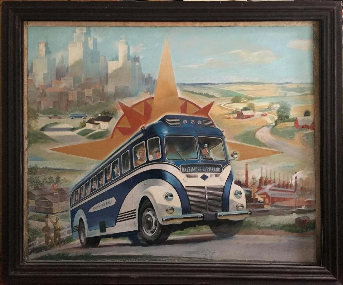 BLUE RIDGE BUS LINES ILLUSTRATION ART