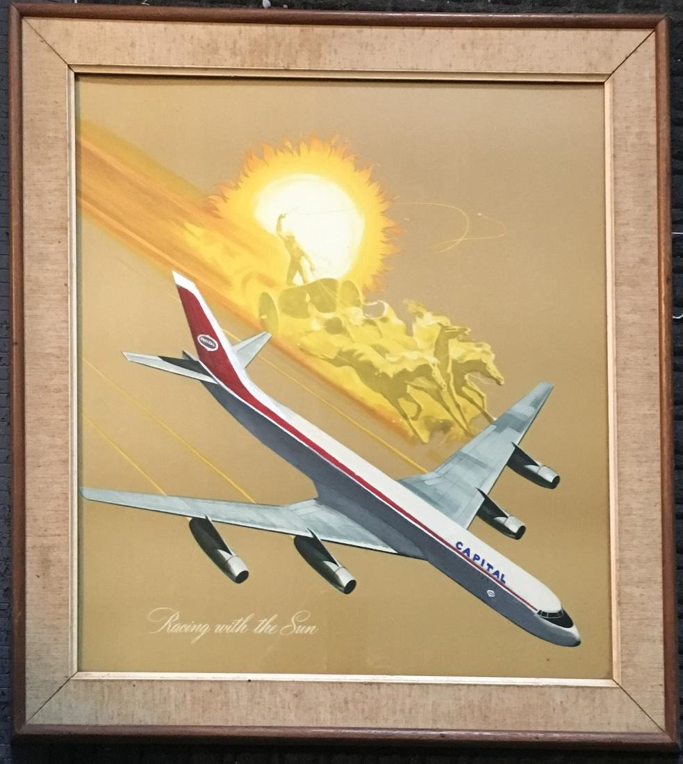 BOEING / CAPITAL AIRLINES ILLUSTRATION ART