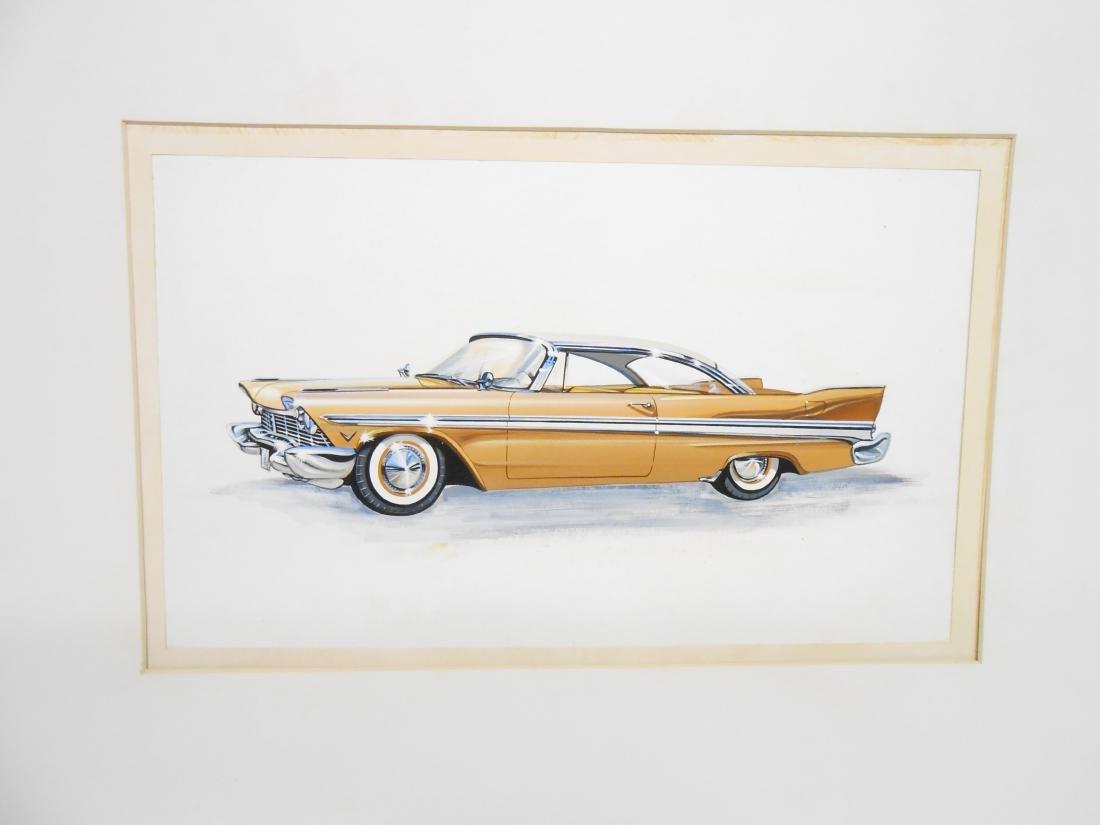 1957 PLYMOUTH HARD TOP ILLUSTRATOR ART
