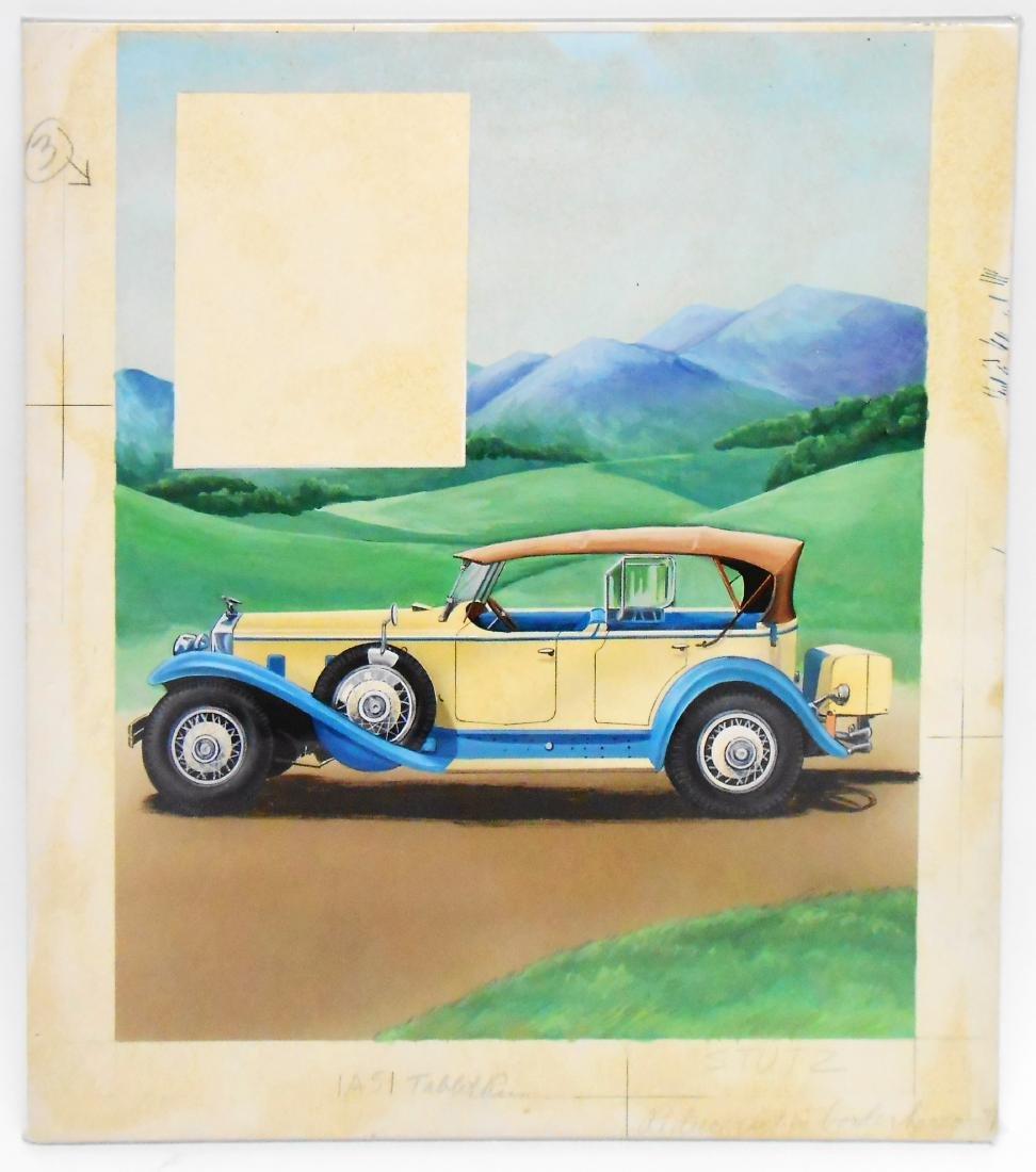 AUTOMOTIVE ORIGINAL ILLUSTRATOR ART - DOW BROCHURE - 2