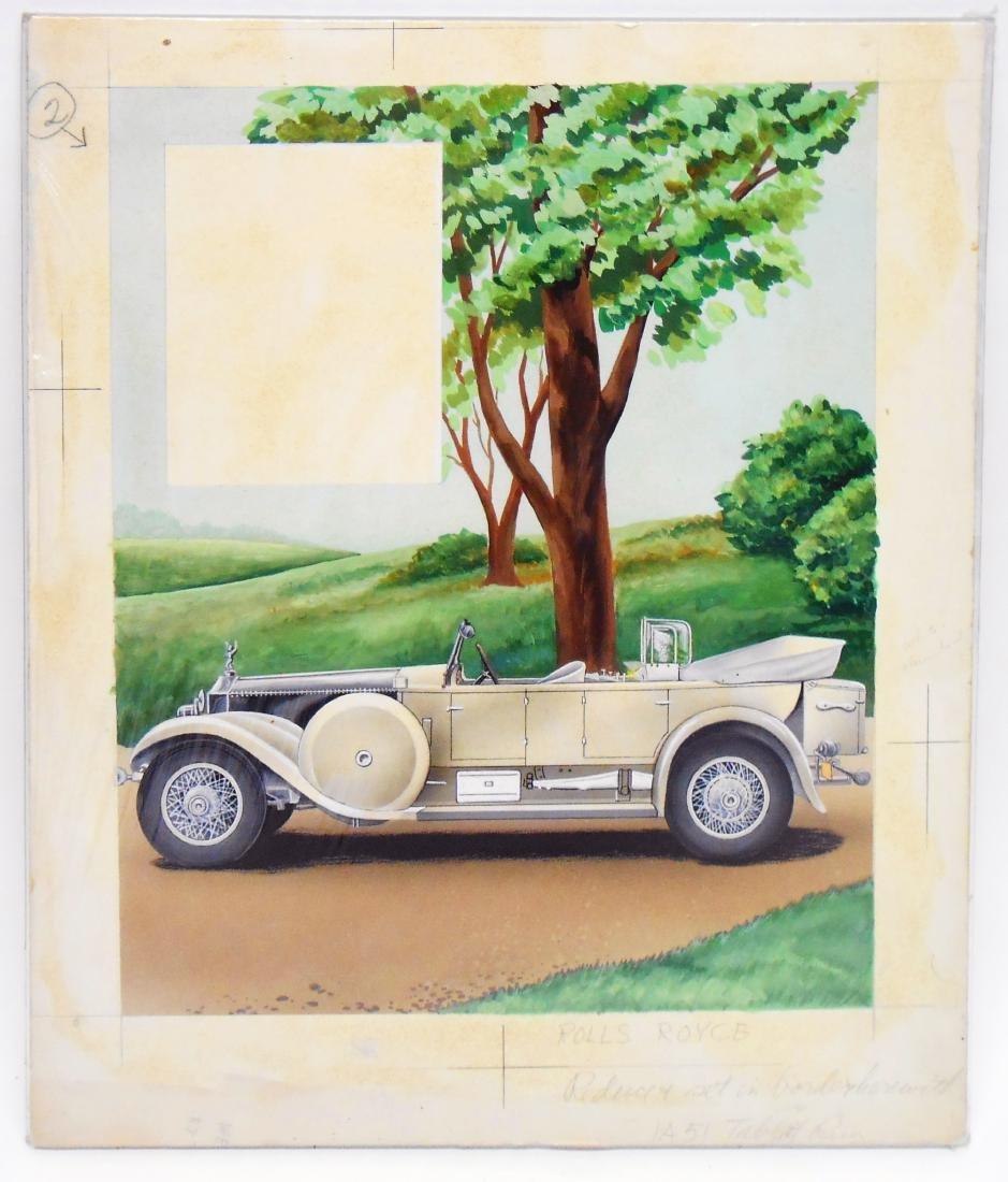 AUTOMOTIVE ORIGINAL ILLUSTRATOR ART - DOW BROCHURE - 3