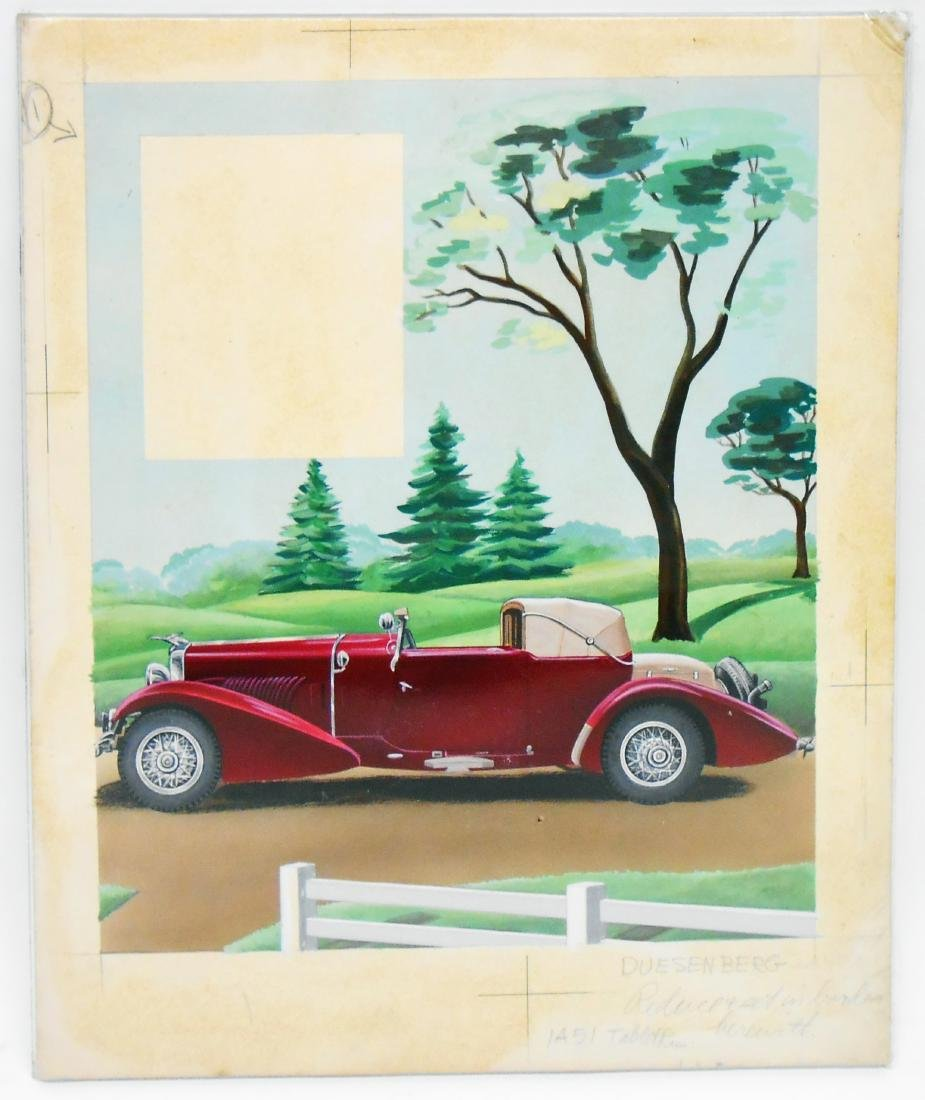 AUTOMOTIVE ORIGINAL ILLUSTRATOR ART - DOW BROCHURE - 4