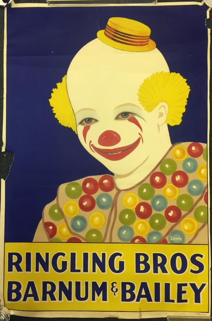 EARLY RINGLING BROS BARNUM & BAILEY CIRCUS POSTER