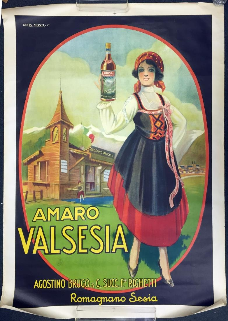 AMARO VALSESIA ITALIAN ADVERTISING POSTER