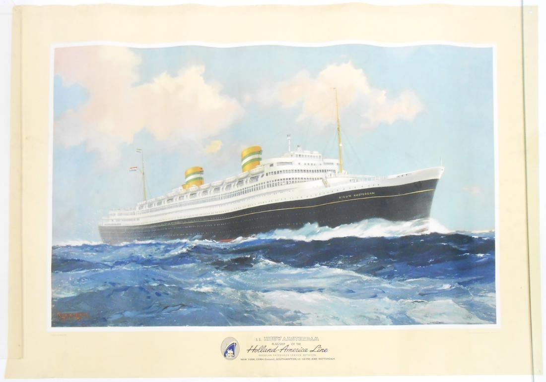 CRUISE SHIP / TRAVEL POSTER HOLLAND-AMERICA LINE