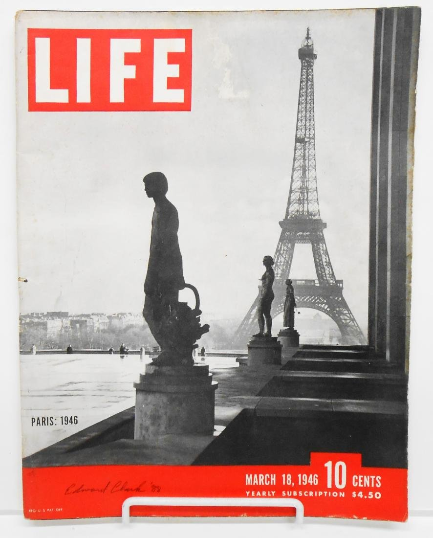 EDWARD CLARK CHAMPS ELYSEES PHOTO and LIFE MAGAZINE - 2