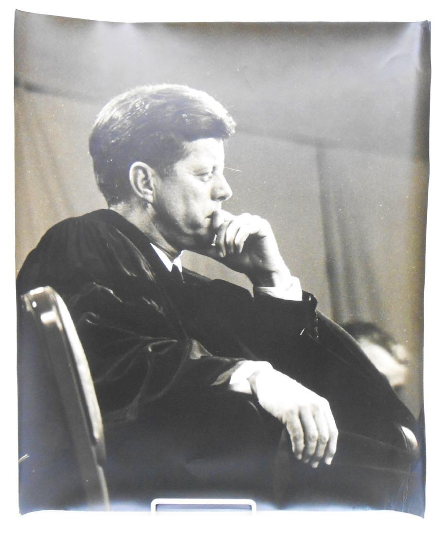 (4) PHOTOGRAPHS OF JOHN F KENNEDY BY EDWARD CLARK