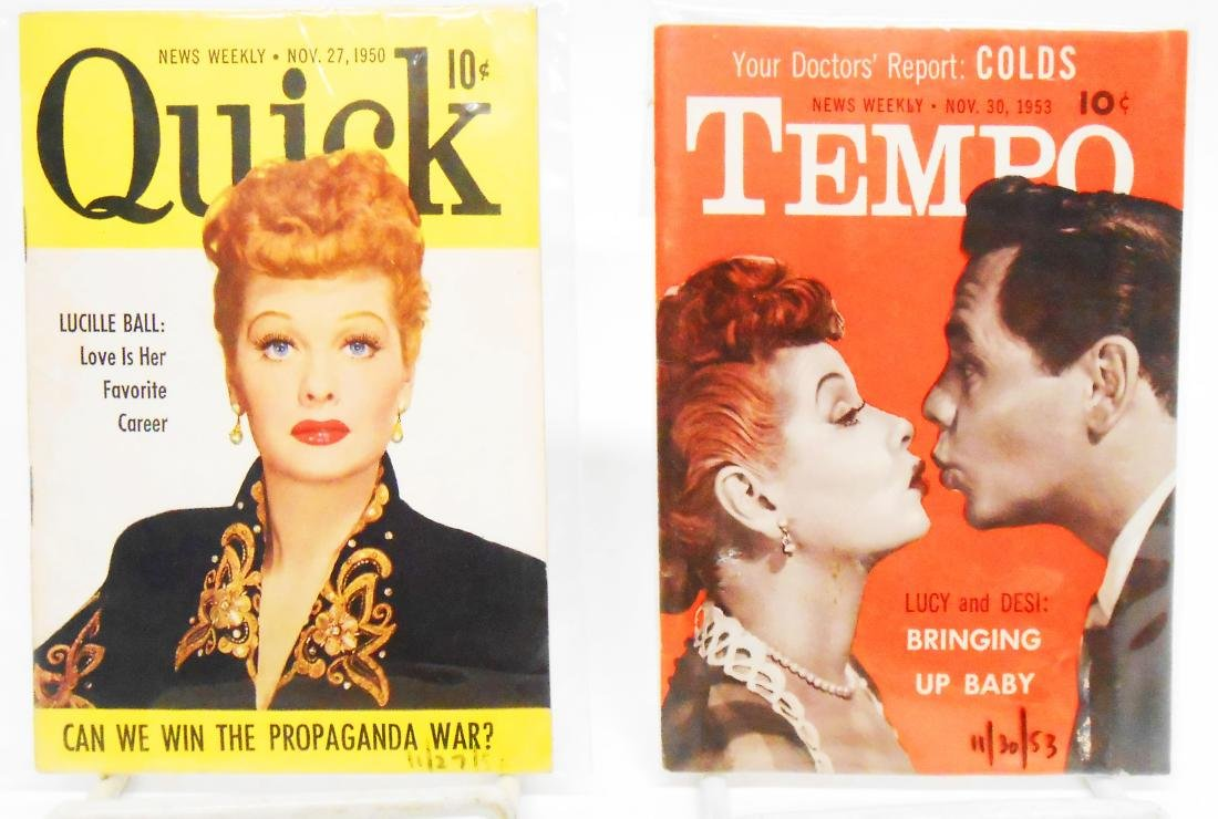 LARGE SELECTION OF TV & LUCY RELATED BOOKLETS
