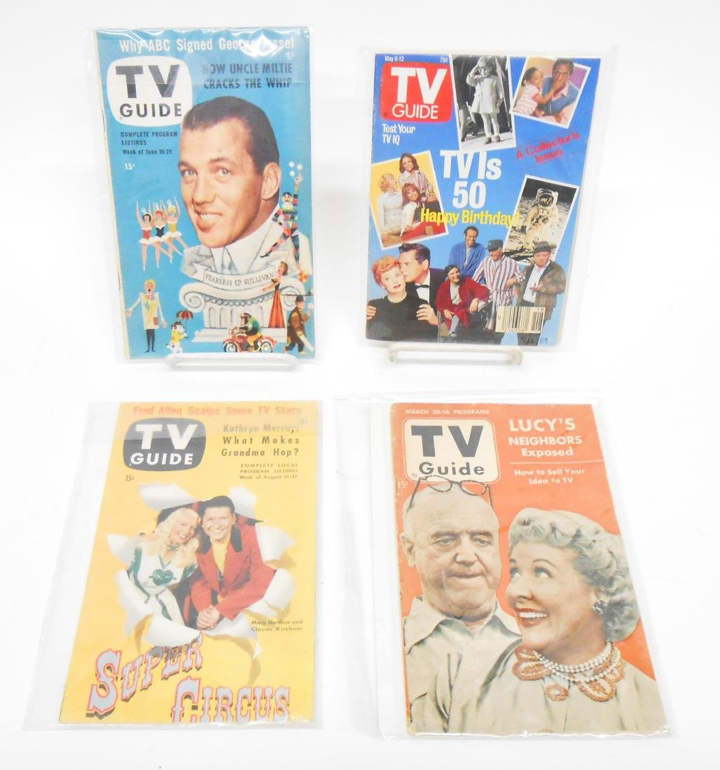 LARGE SELECTION OF TV GUIDE MAGAZINES -many LUCY
