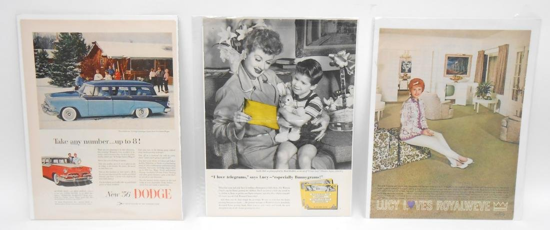 (24) LUCILLE BALL MAGAZINE ADS & BROCHURES