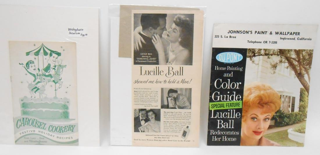 (24) LUCILLE BALL MAGAZINE ADS & BROCHURES - 9