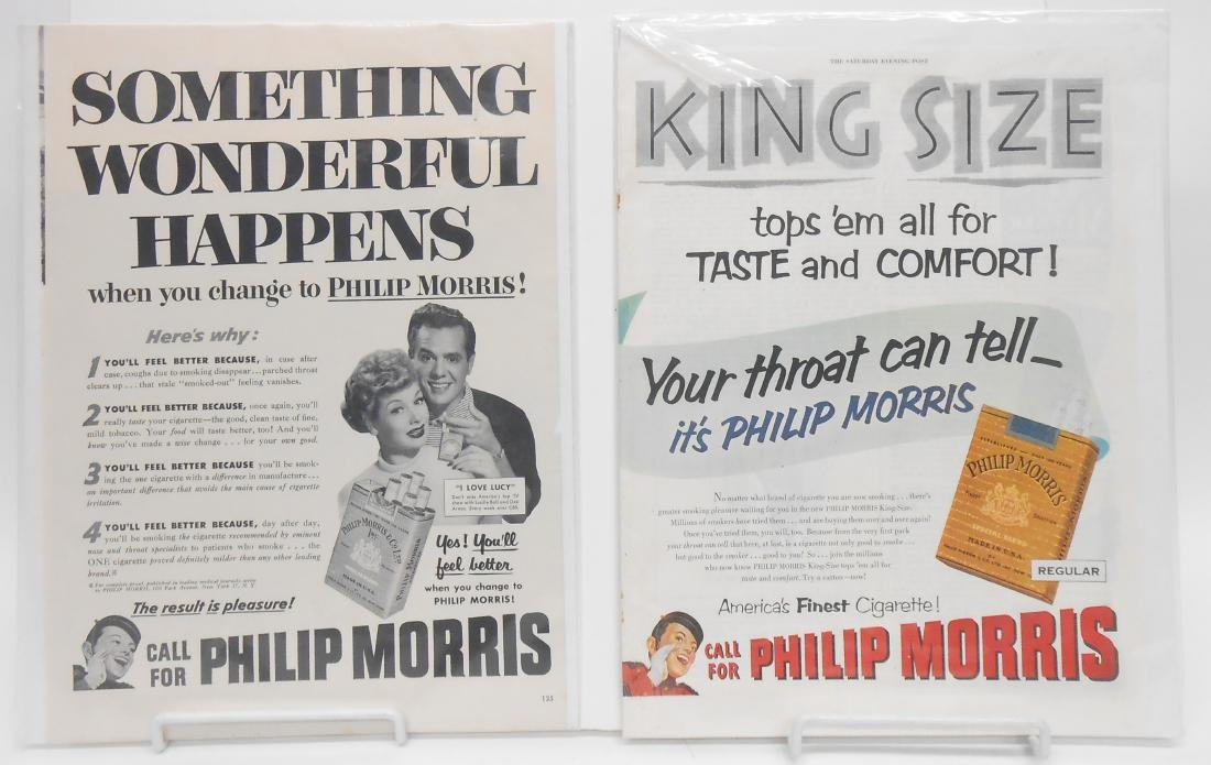 (14)  LUCILLE BALL MAGAZINE ADS FOR CIGARETTES, ETC