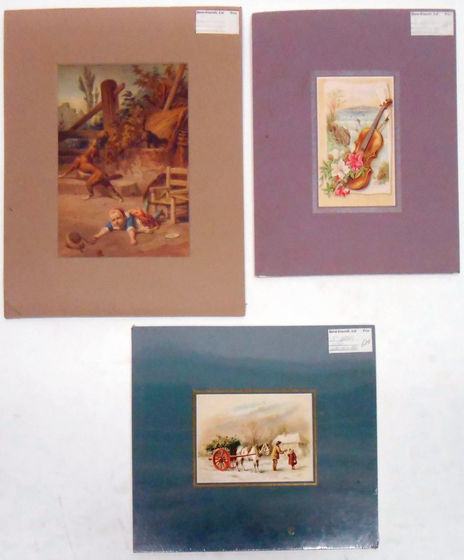 (27) COLOR LITHO PRINTS, SCENES OF CHILDREN, ETC.