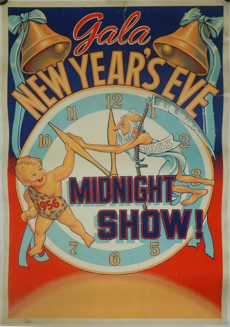 PAPER LITHO POSTER - GALA NEW YEARS EVE MIDNIGHT SHOW