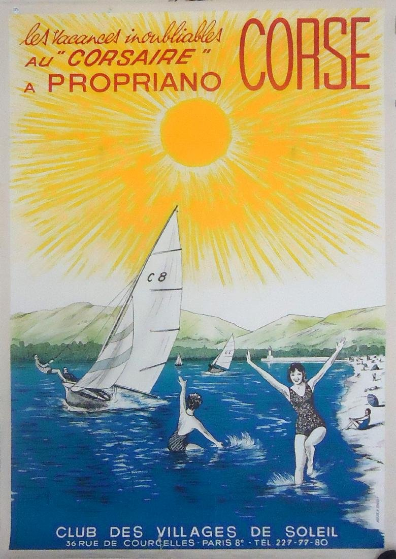 FRENCH TRAVEL POSTER - PAPER LITHO