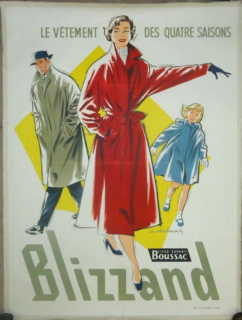 FRENCH ADVERTISING POSTER  'BLIZZAND', PAPER LITHO