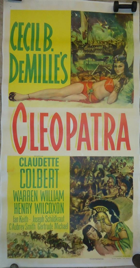 "1952 MOVIE POSTER, PAPER LITHO - ""CLEOPATRA"""