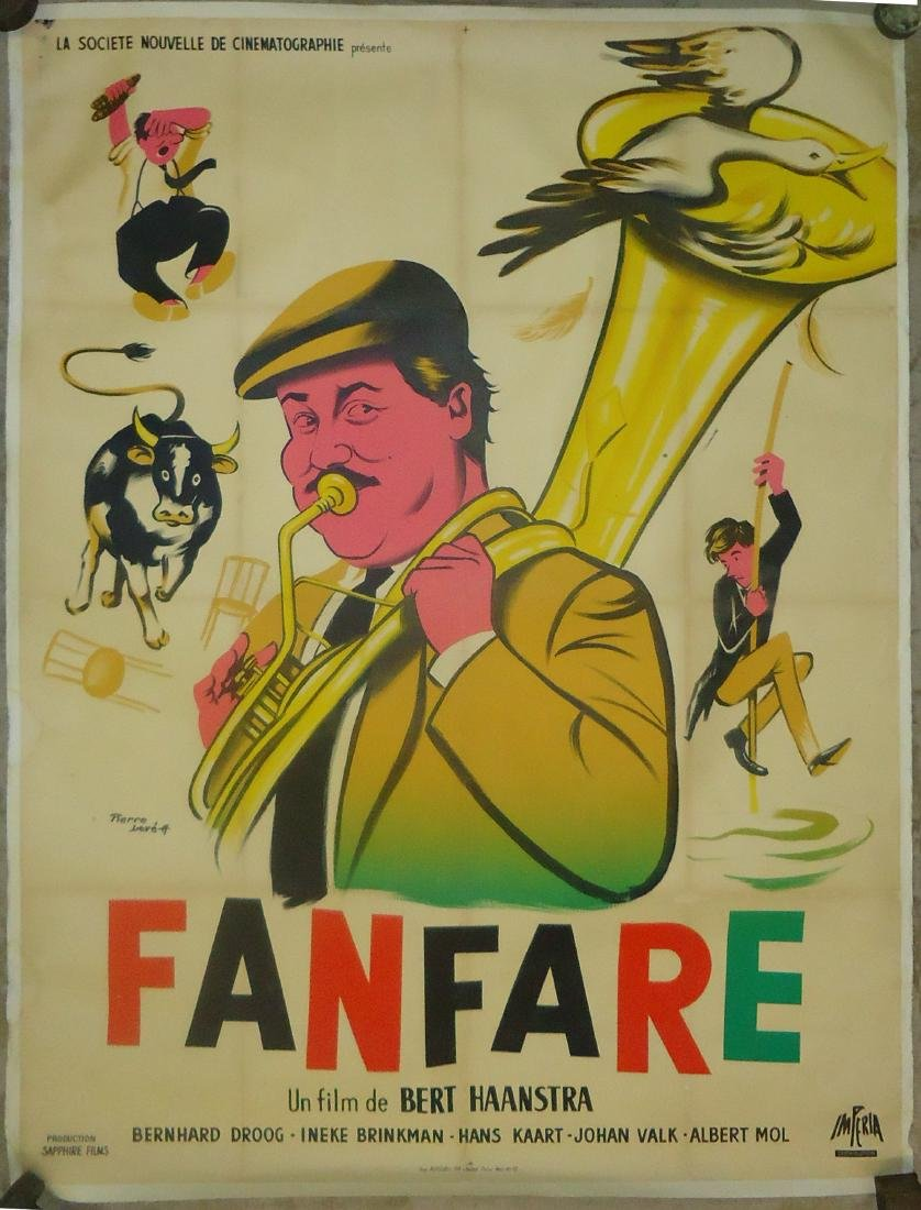 "FRENCH FILM POSTER ""FANFARE"", PAPER LITHO"