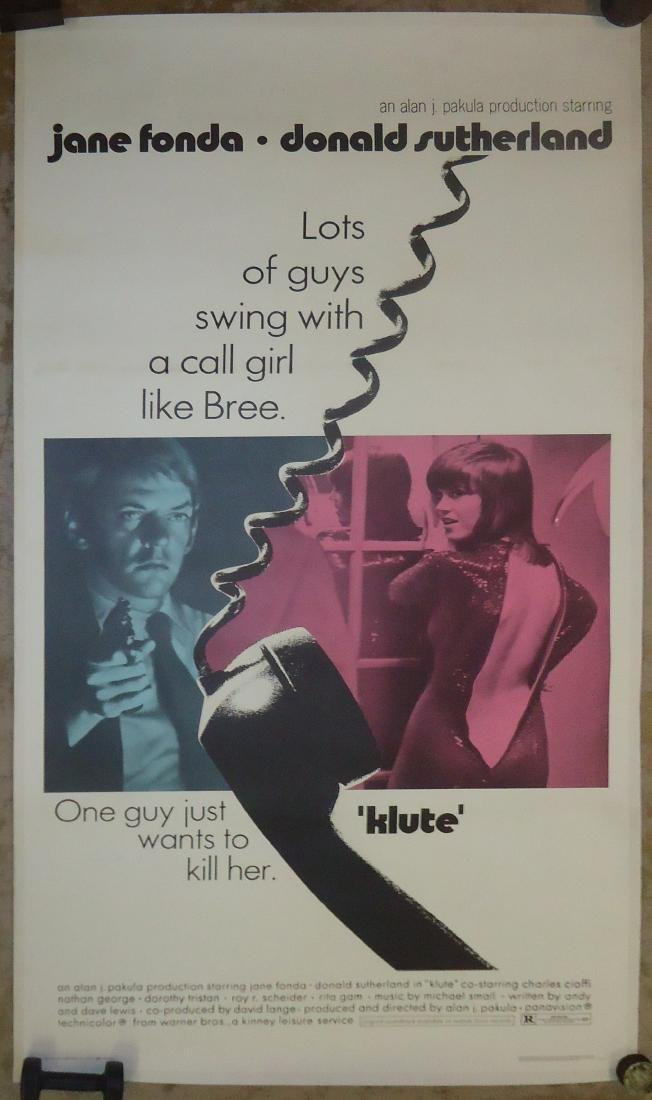 "MOVE POSTER, 1971 ""KLUTE"" PAPER LITHO"