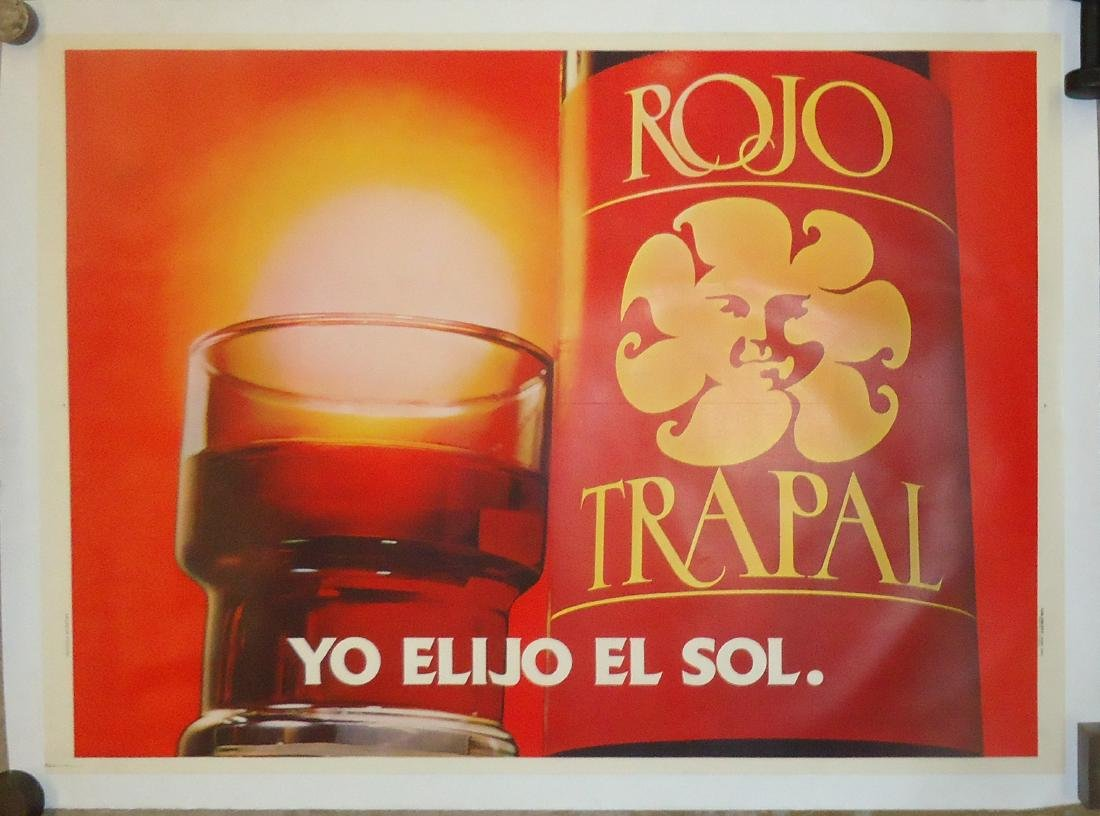 """ARGENTINE ADVERTISING POSTER """"ROJO TRAPAL"""""""