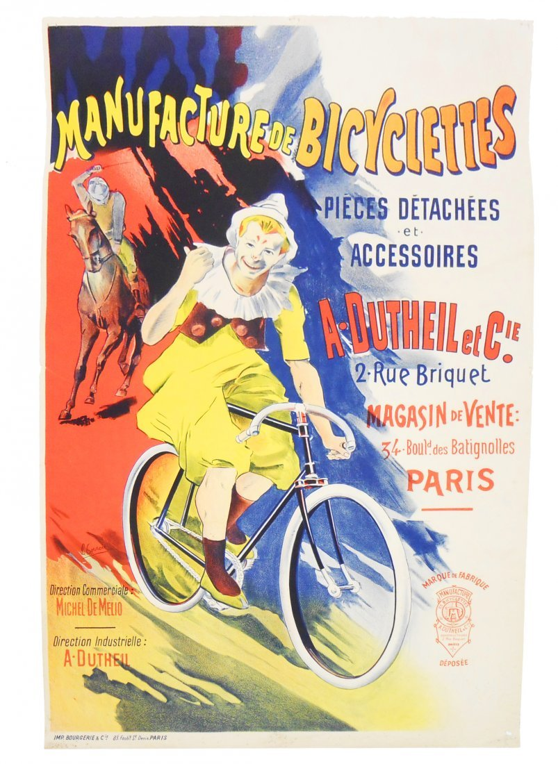 FRENCH ADVERTISING POSTER - BICYCLES